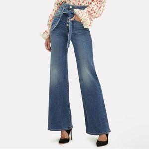 NWT Veronica Beard Rosanna Corset Jeans Size 24
